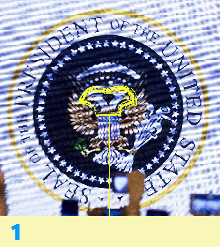 image about Printable Trump Sign identify Trump false presidential seal: Heres what the legitimate a single appears to be