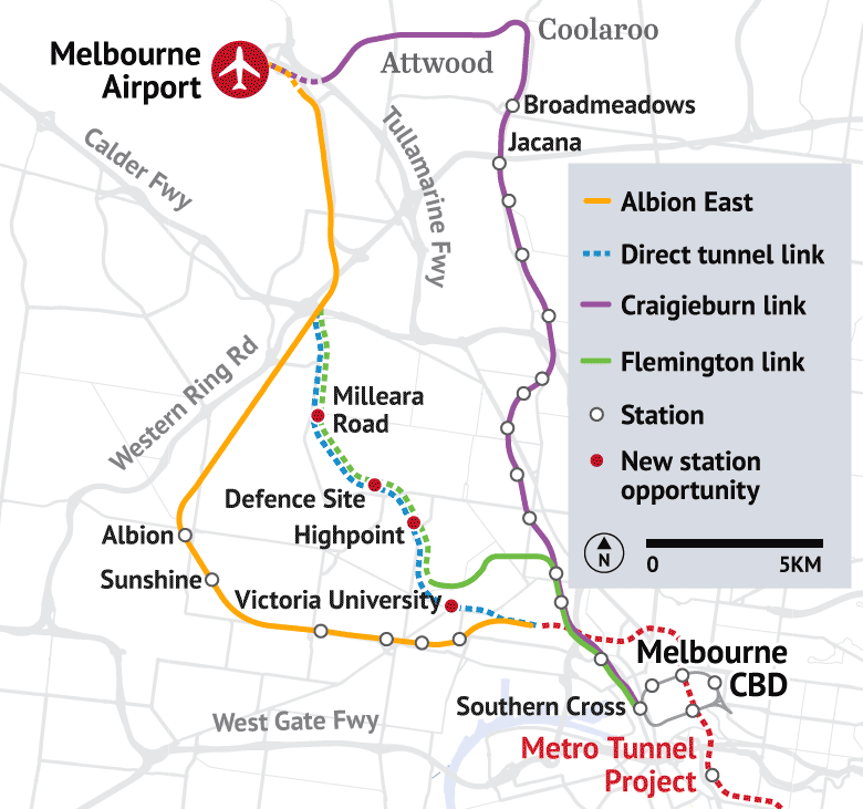 Melbourne Airport rail link The pros and cons