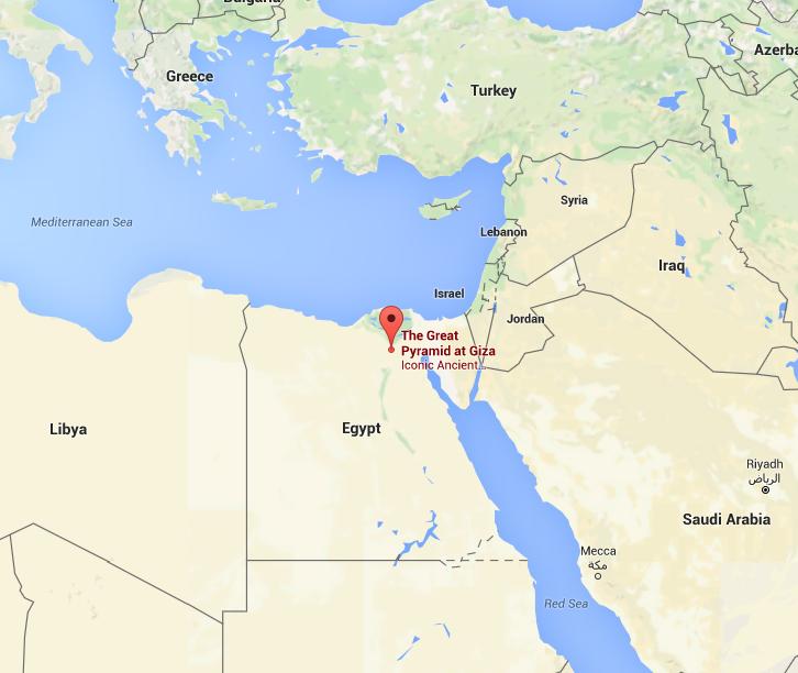 Great Pyramid Of Giza By Kevin Dorsett Infogram - Map of egypt giza pyramids