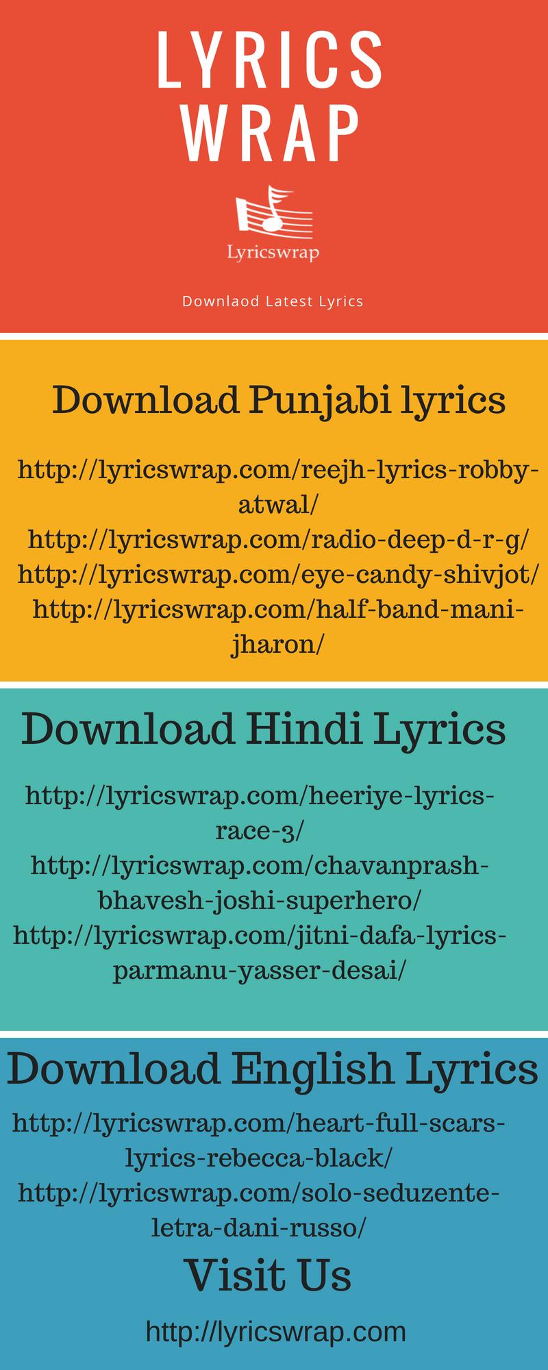 Download Latest Lyrics Hindi, Punjabi and English Songs by