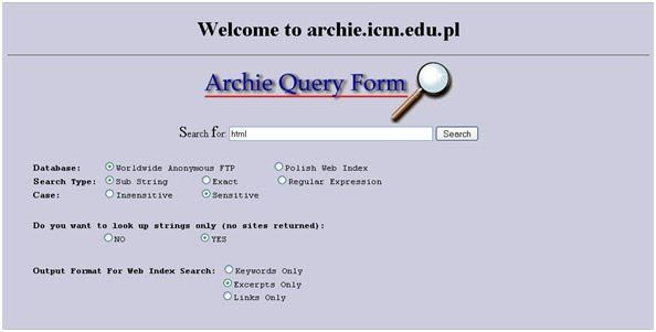 Archie Search Engine by yes no - Infogram