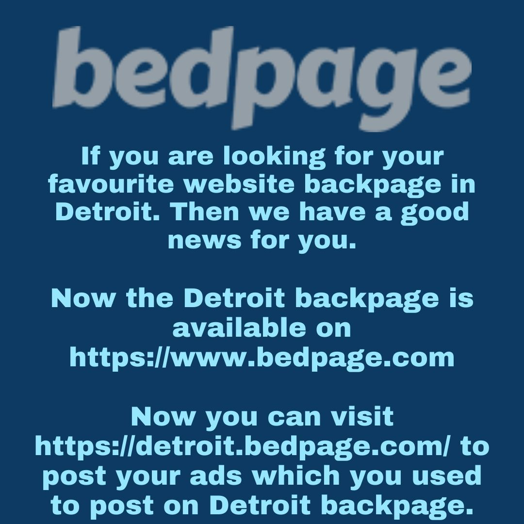 Backpage Com Detroit >> Backpage Detroit By Bedpage Classifieds Infogram